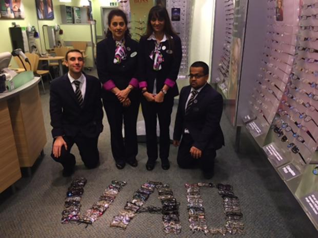 Opticians collects hundred of pairs of glasses for charity