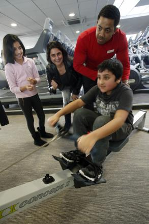 Families take part in fitness challenge