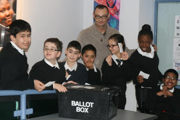 Harrow Times: Voting at Shaftesbury High School Elections