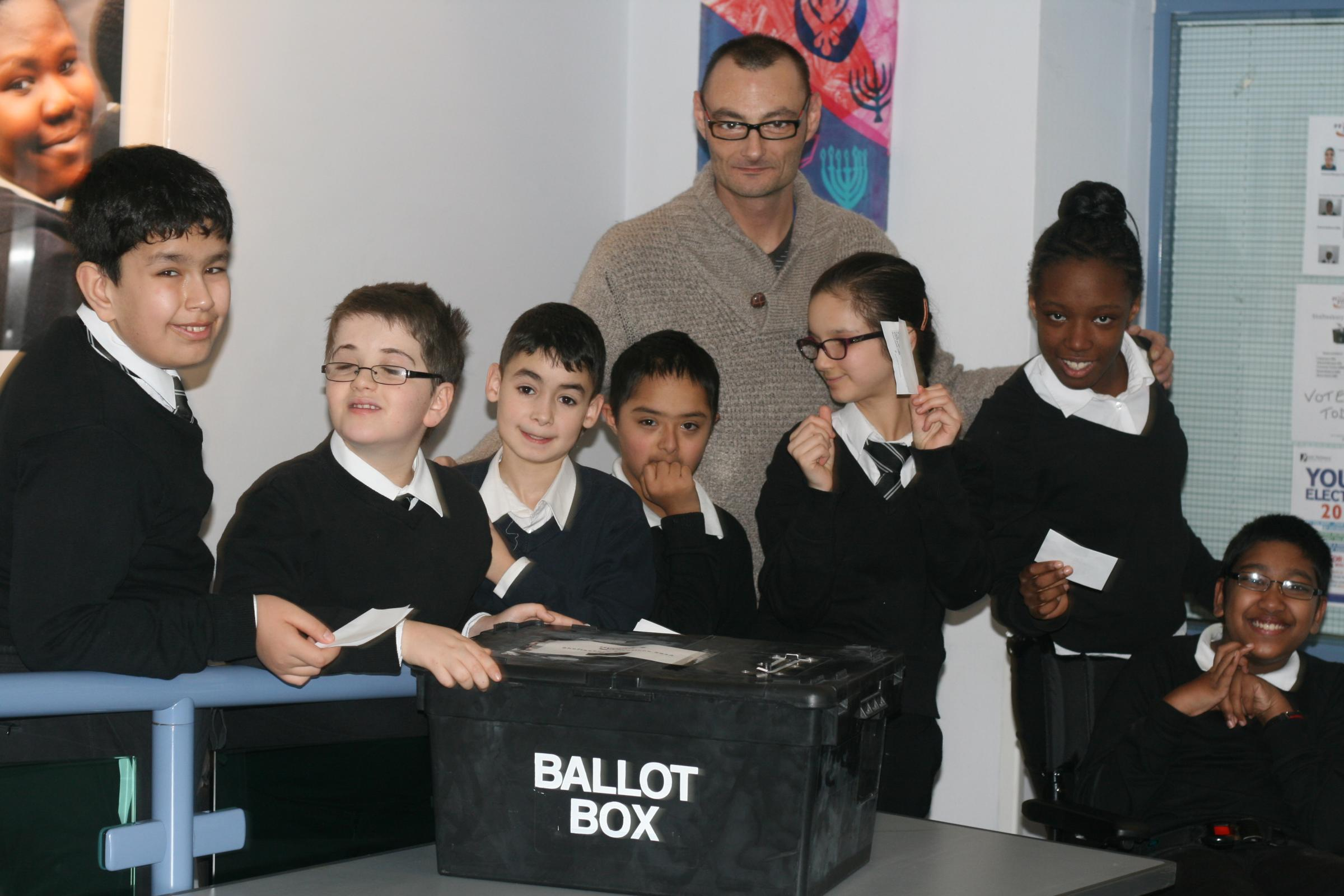 Voting at Shaftesbury High School Elections