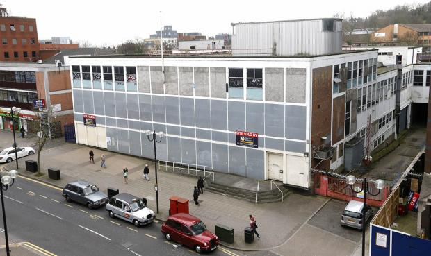 The former Royal Mail sorting office in College Road: a 19-story skyscraper would have to be of