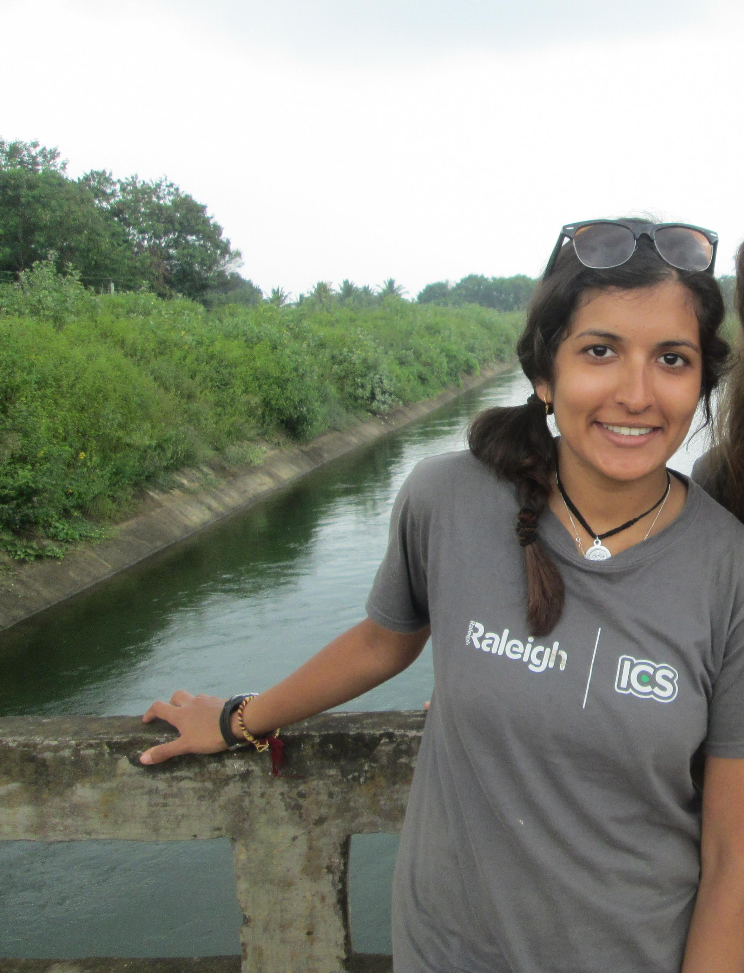 Bhavisha Parmar during her trip in India