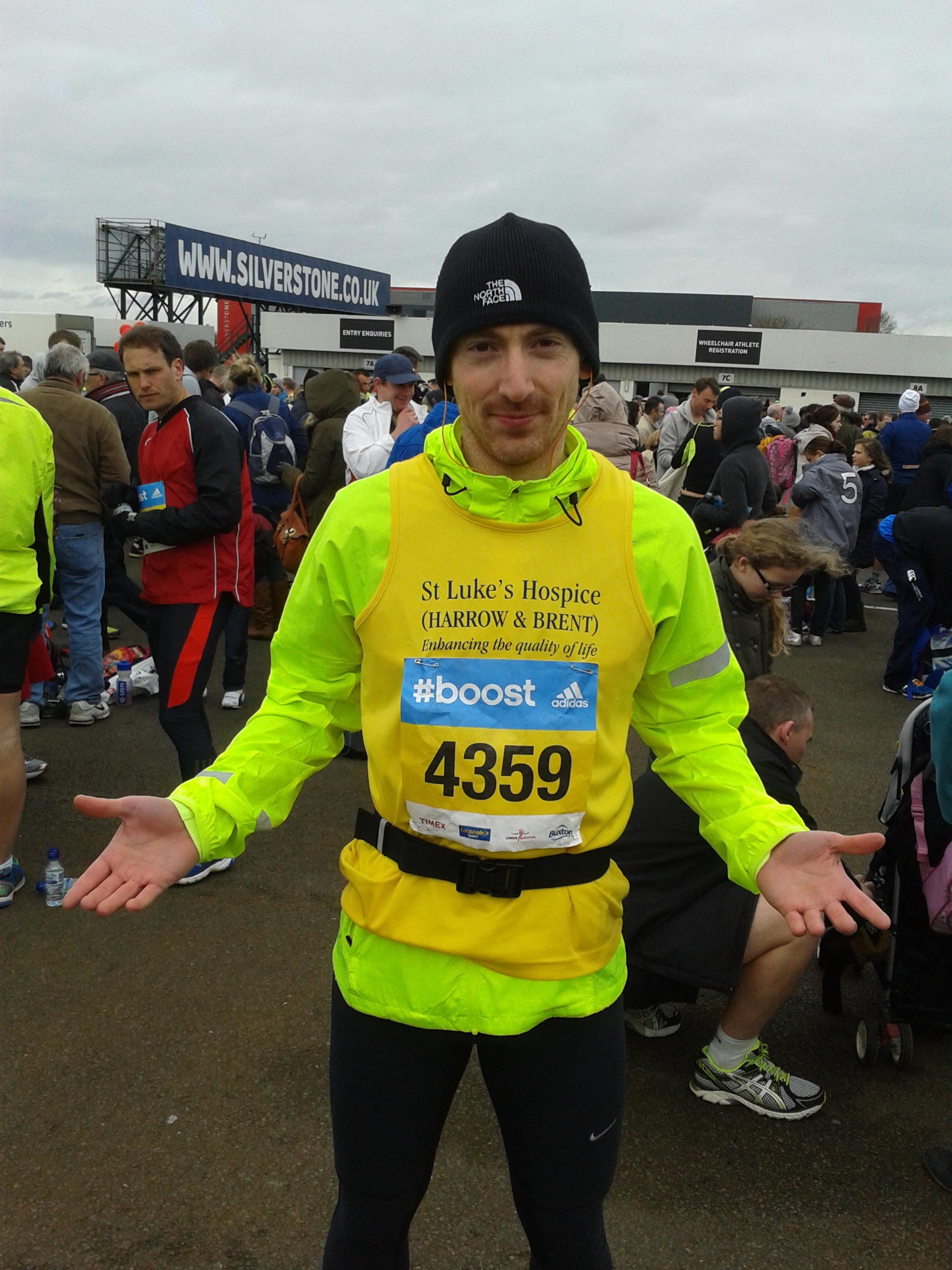 Ashley Rubinstein after completing the Silverstone half marathon