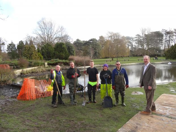 Tonnes of rubbish removed from park pond