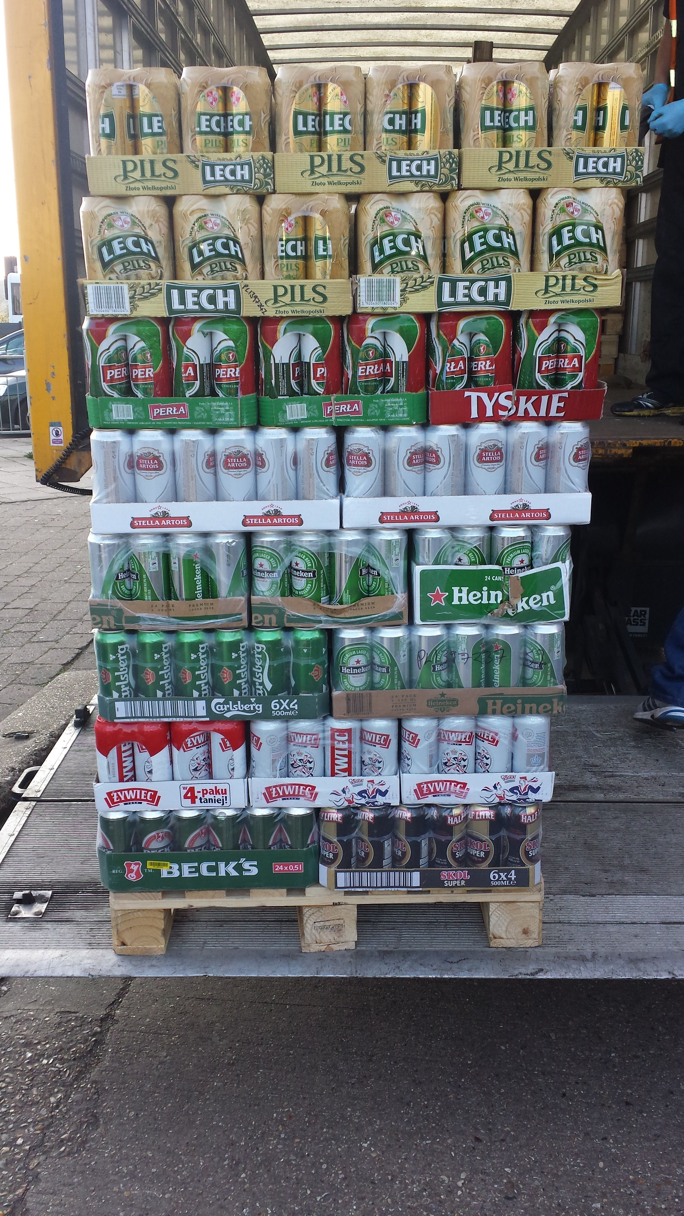 Illegal and alcohol and cigarettes seized