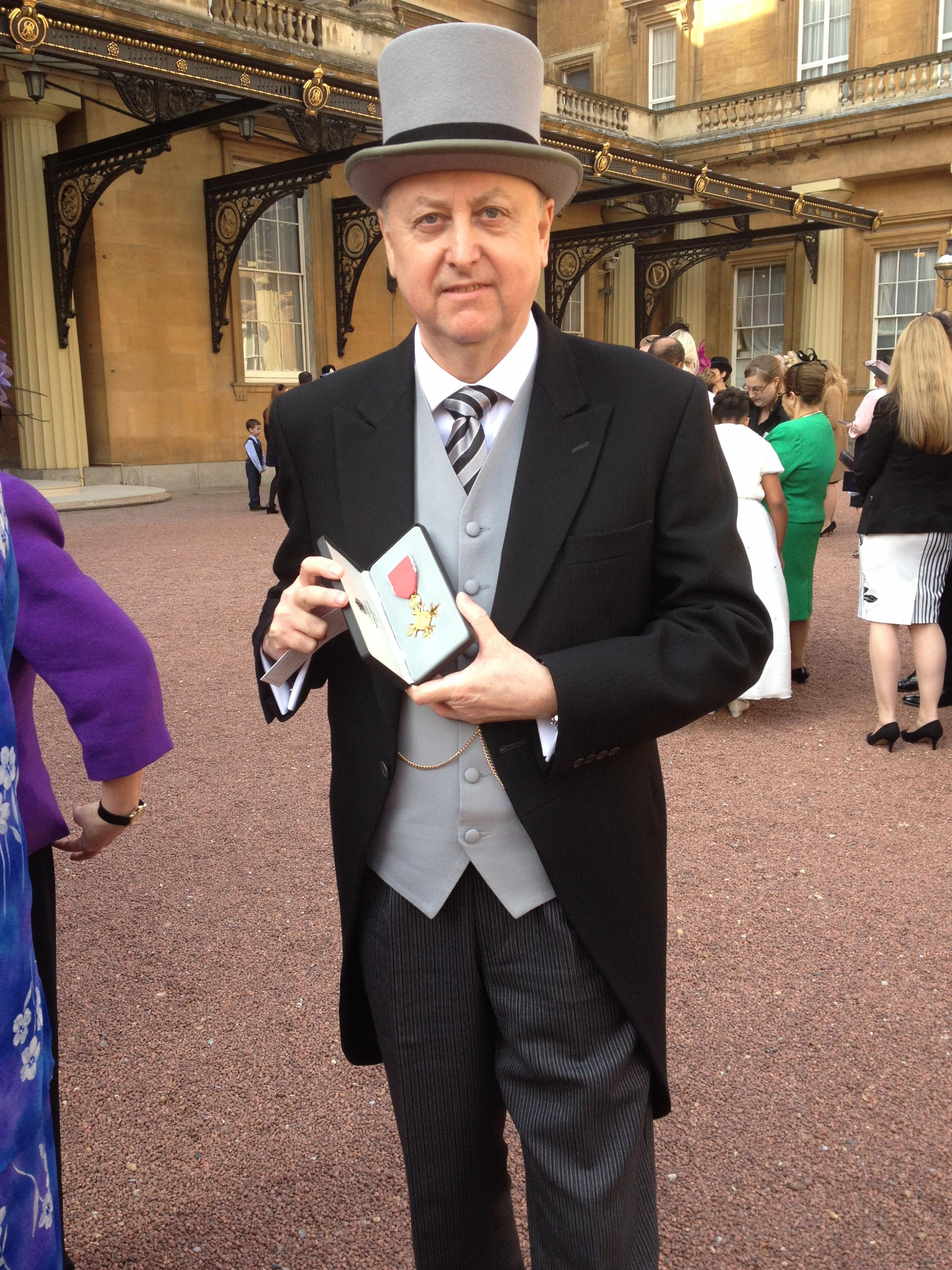 Graham Jukes with his OBE