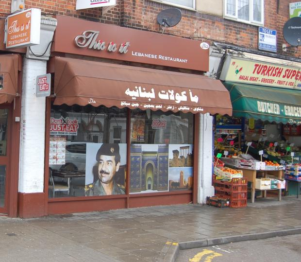Harrow Times: Restaurant called to remove Saddam Hussein picture