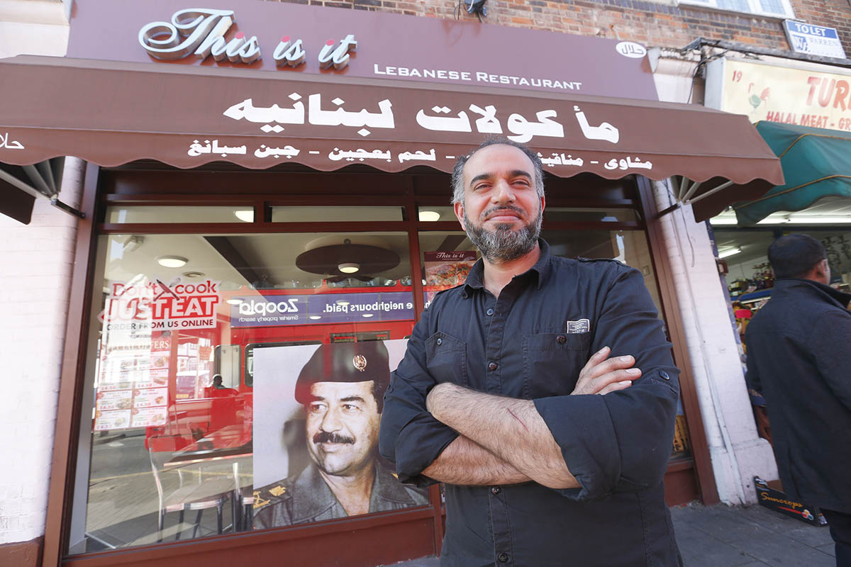 Saddam Hussein picture 'human rights protest' says restaurant owner