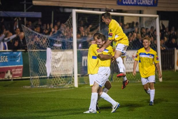 The Stones will have to cope without the injured Scott McGleish: Steve Foster/Wealdstone FC