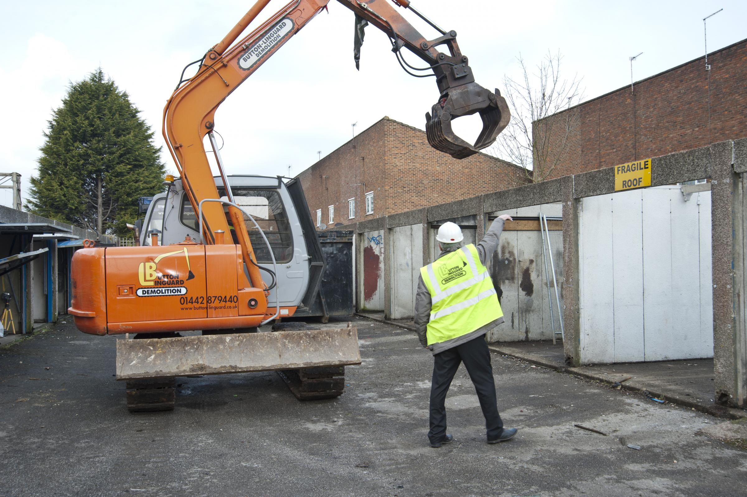 Council owned garages demolished
