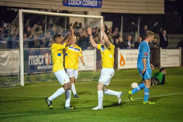 Wealdstone's title celebrations were put on hold on Saturday. Picture: Steve Foster/Wealdstone FC