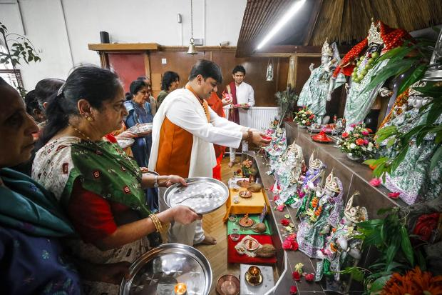 Hindu temple holds annual celebration