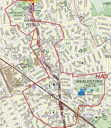 Map of the dispersal zone in Wealdstone
