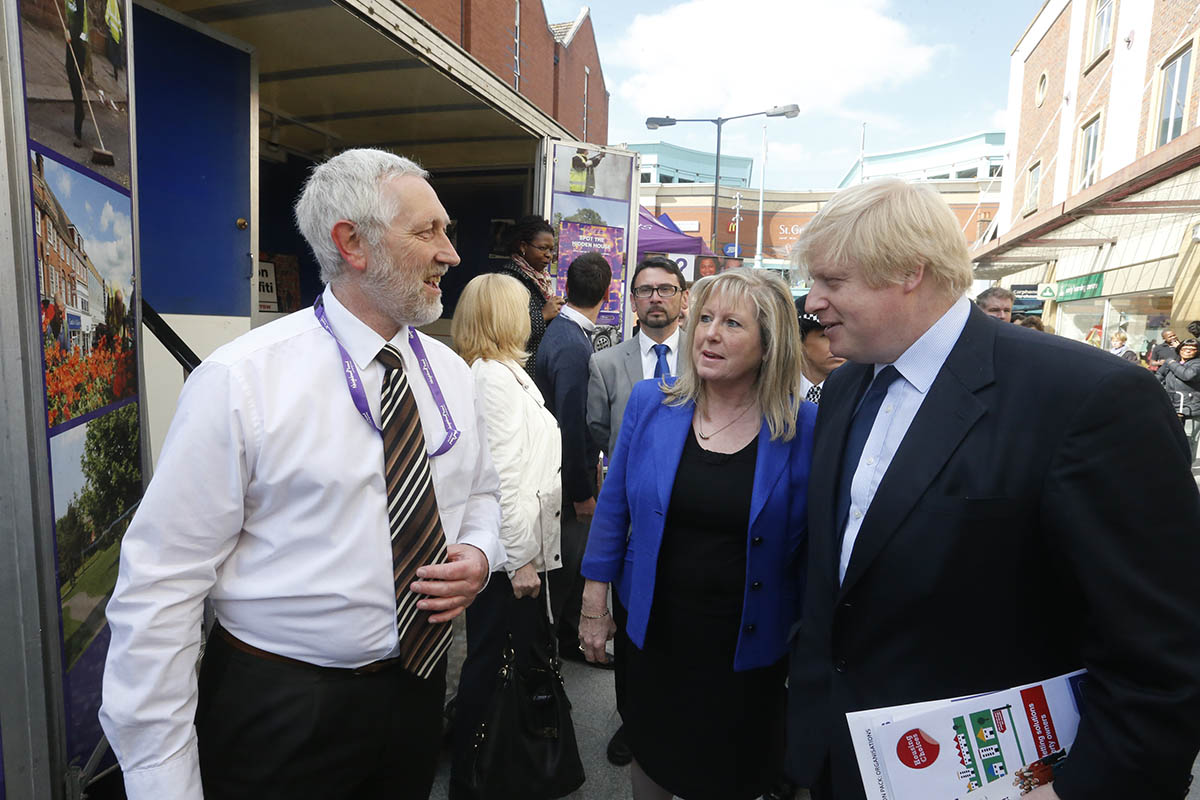 Mayor of London Boris Johnson visits Harrow