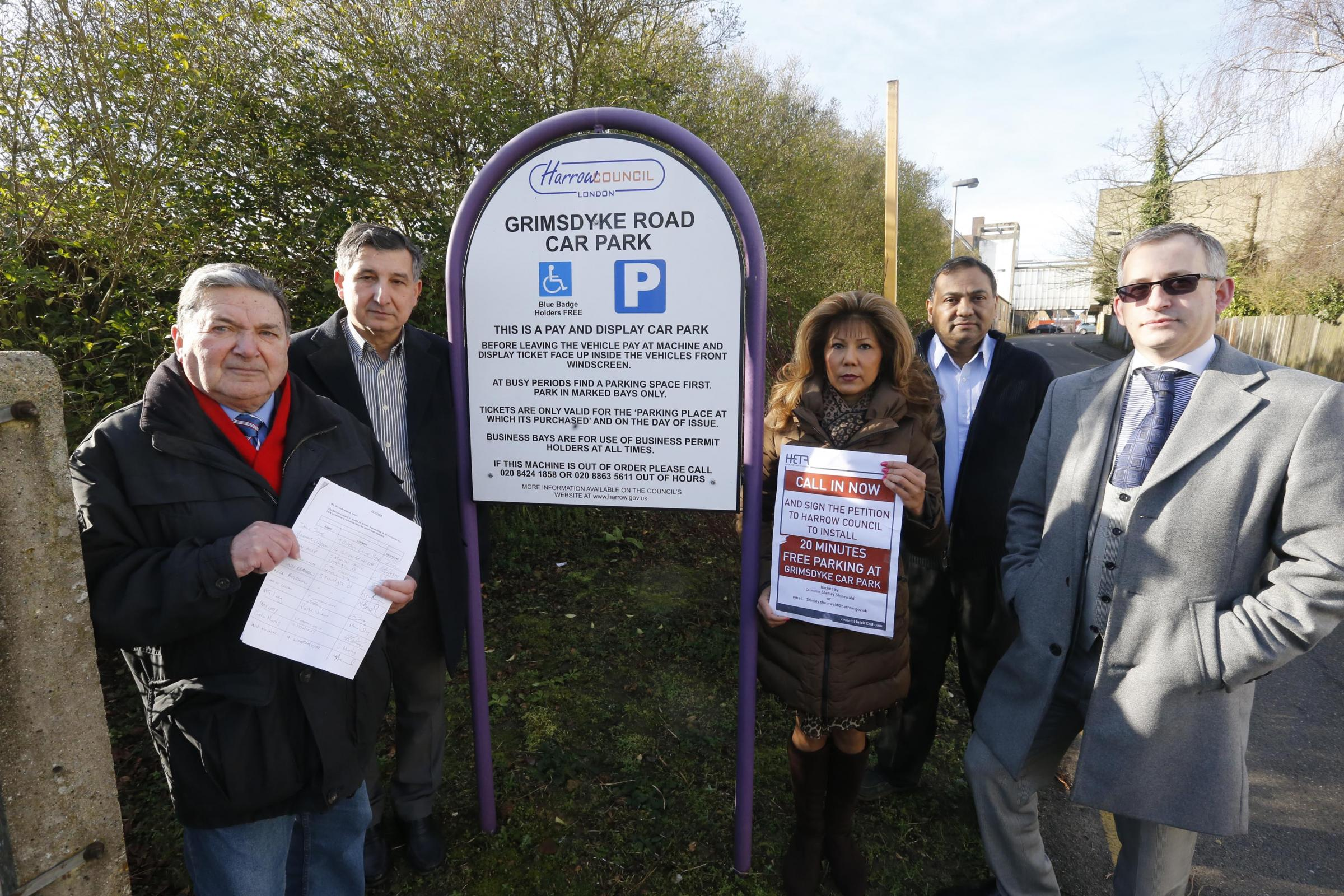 Councillor hands in petition for free parking in car park