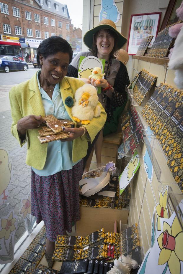 Harrow Times: Charity shop displays chocolate donation for Easter