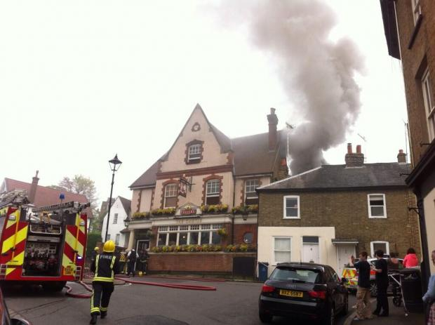 Harrow Times: More than 30 firefighters helped tackle the blaze. Pic tweeted by Anja Weise