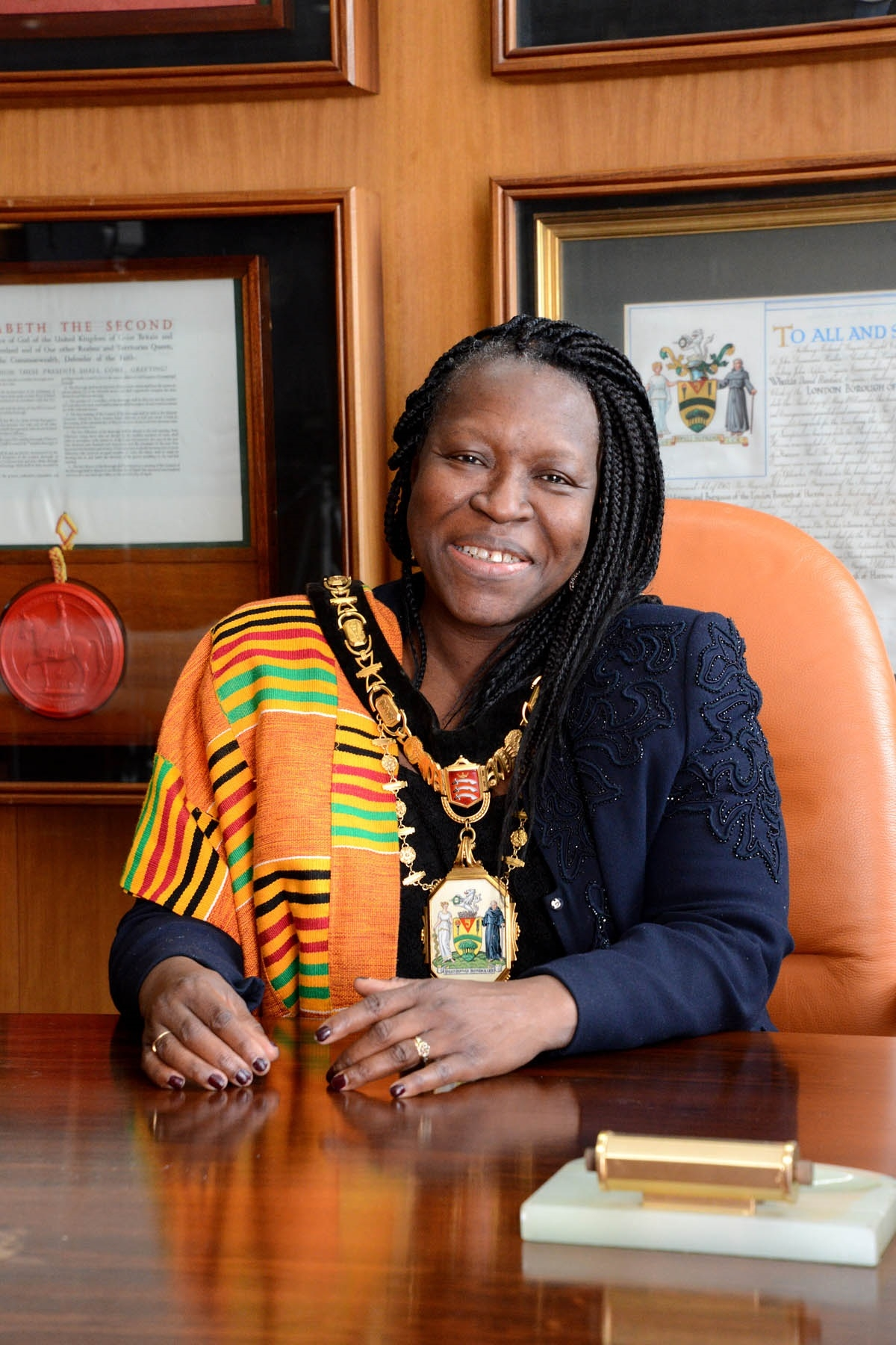 Mayor of Harrow Borough Council, Councillor Nana Asante. Photograph (c) Debbie Dye