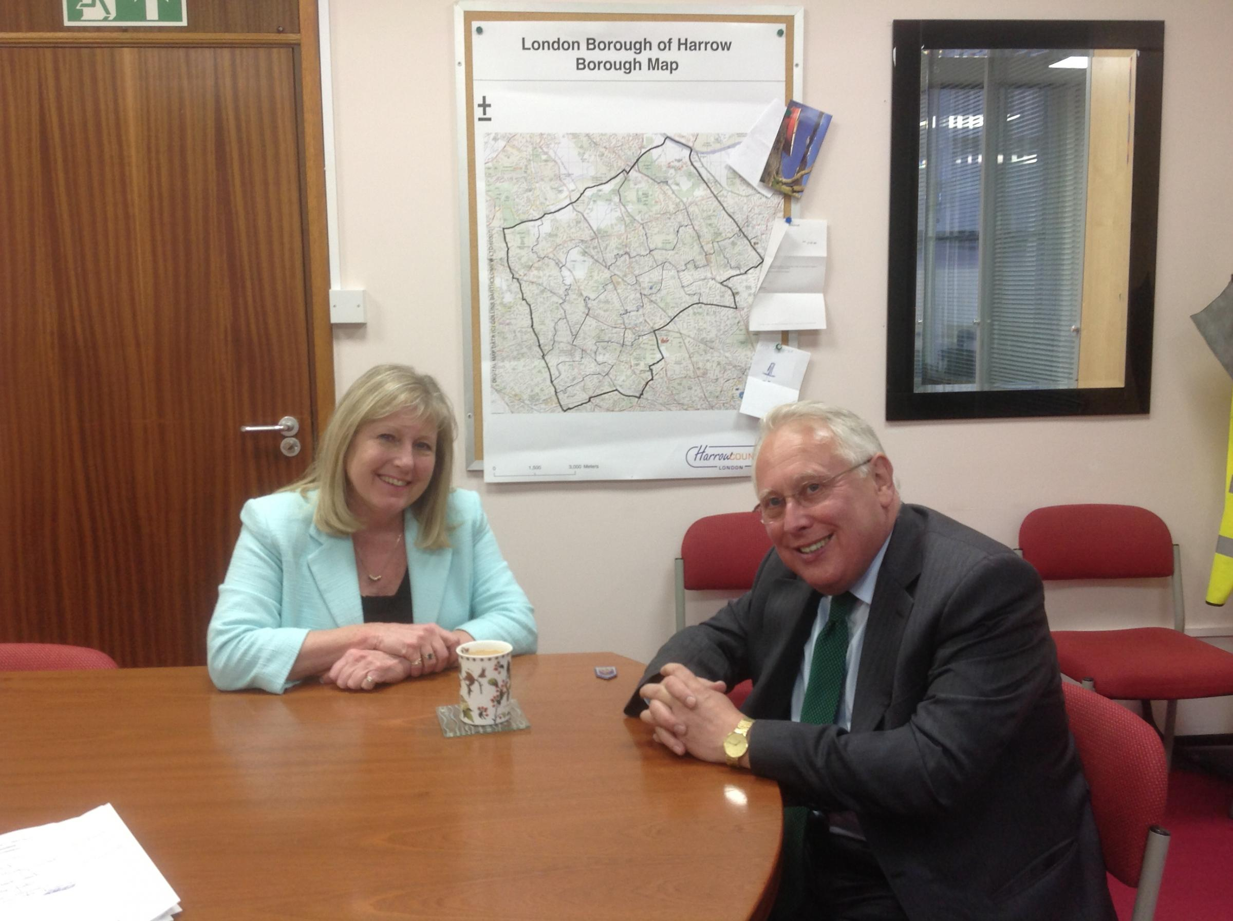 Susan Hall with Bob Neill MP