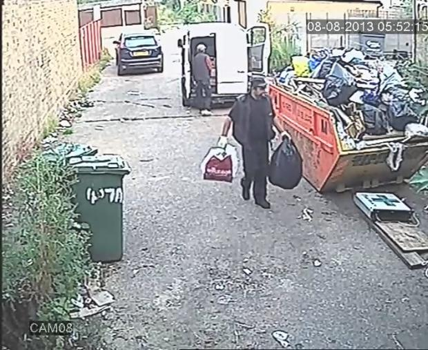 Flytipper fined after being caught on camera
