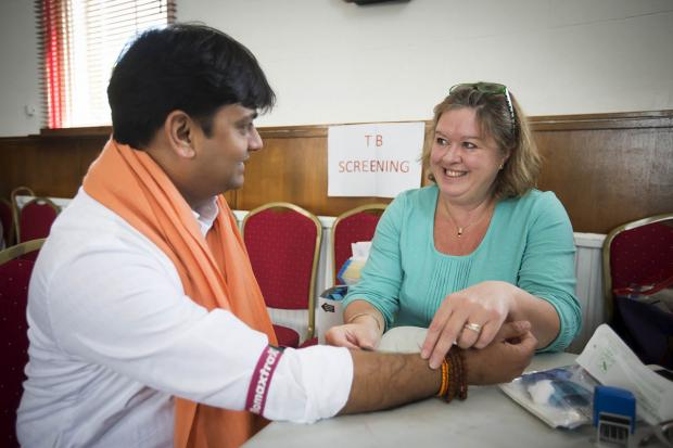 Hindu temple hosts TB screening