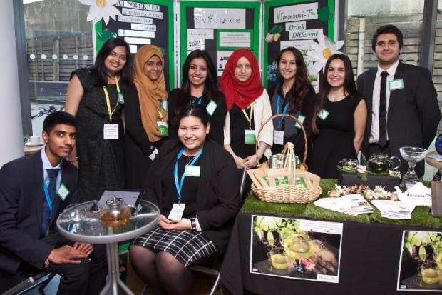 Kingsbury High School's Young Enterprise team, Evalesco: Pic from Claire Williams