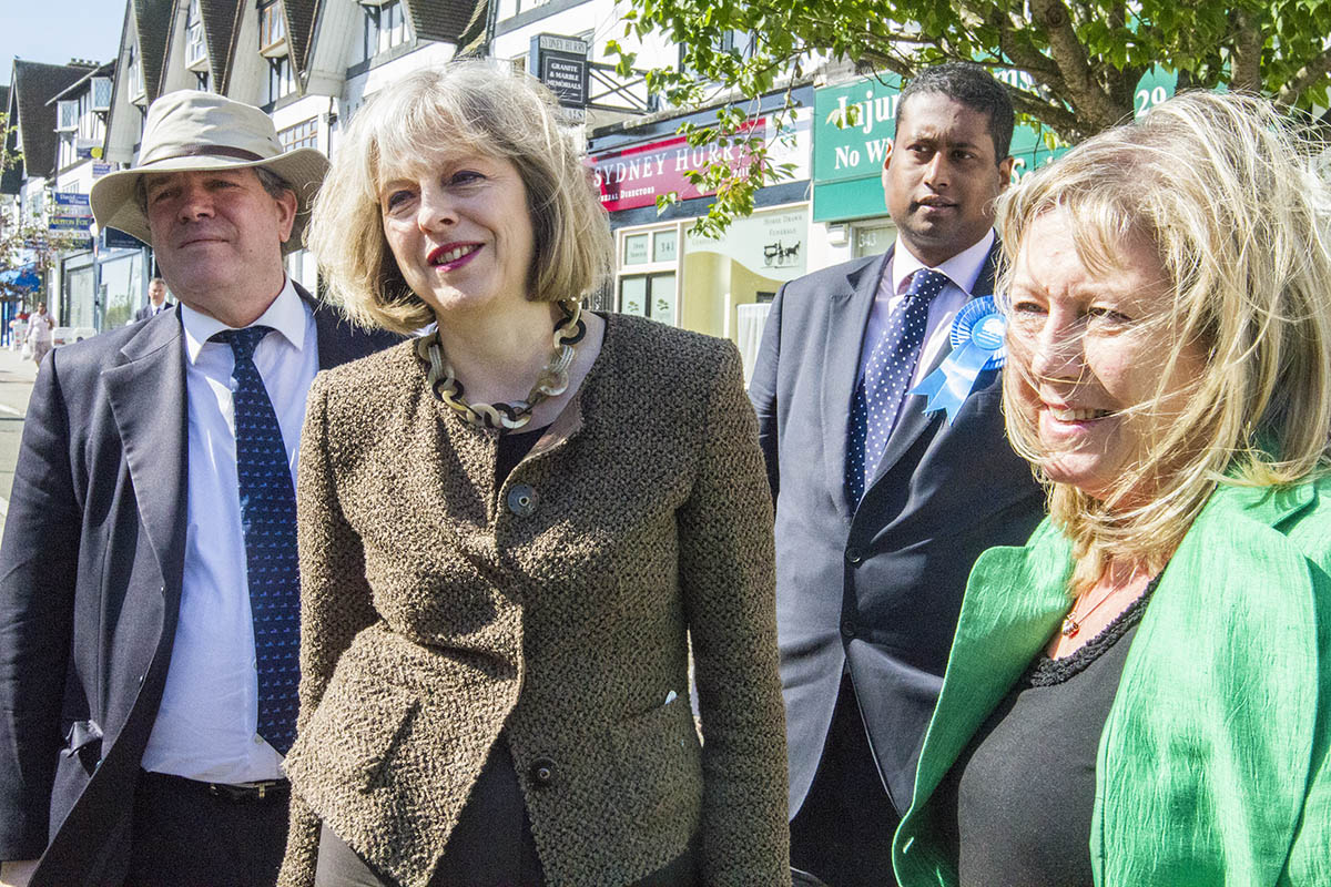 Home Secretary hits the campaign trail in Harrow