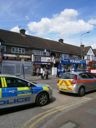 The man in his 50s was attacked the Raja Salon, in Village Way East, Rayners Lane.