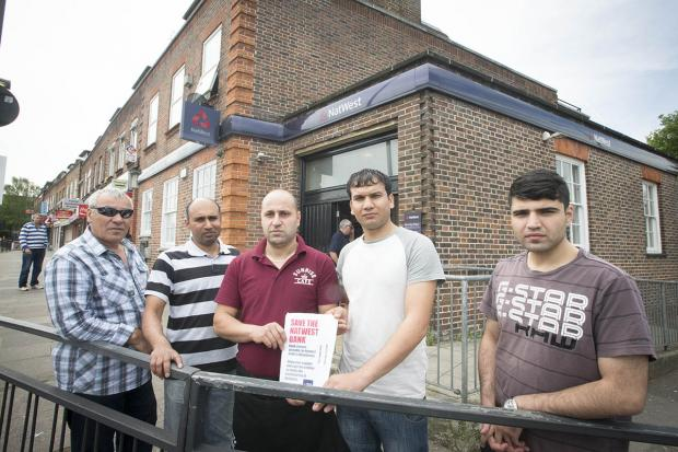 Shopkeepers unite to stop bank closure
