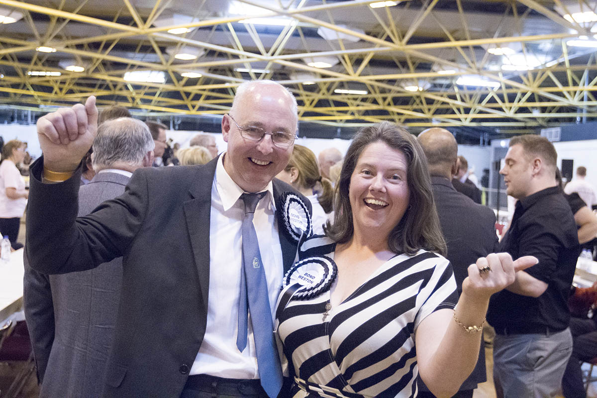 Councillor James Bond and Georgia Weston