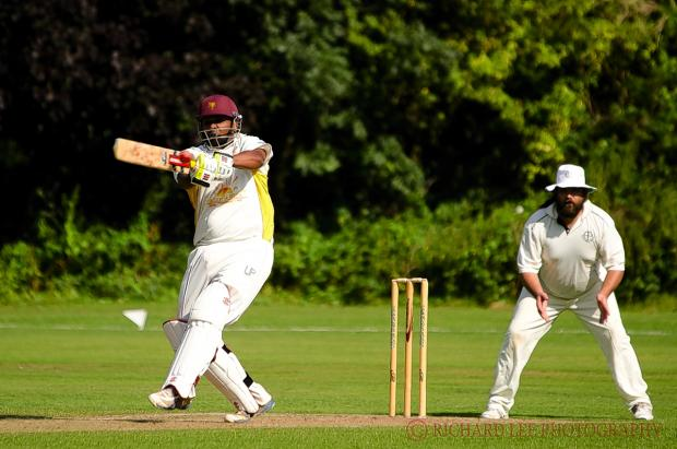 Ramesh Gunalan top scored for Bessborough in their draw with Crouch End: Richard Lee
