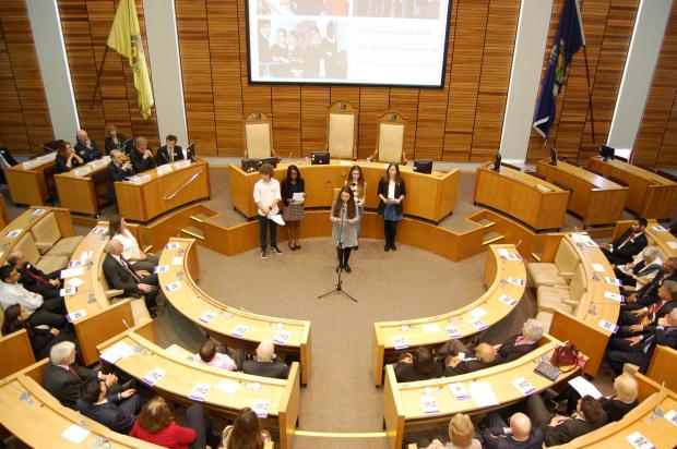 Young politicians give talk to councillors