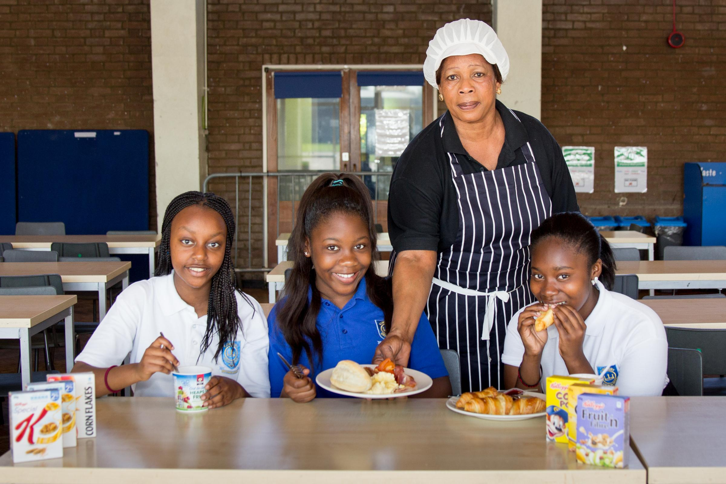 School breakfast club gets cash boost Pic by Camille Shah