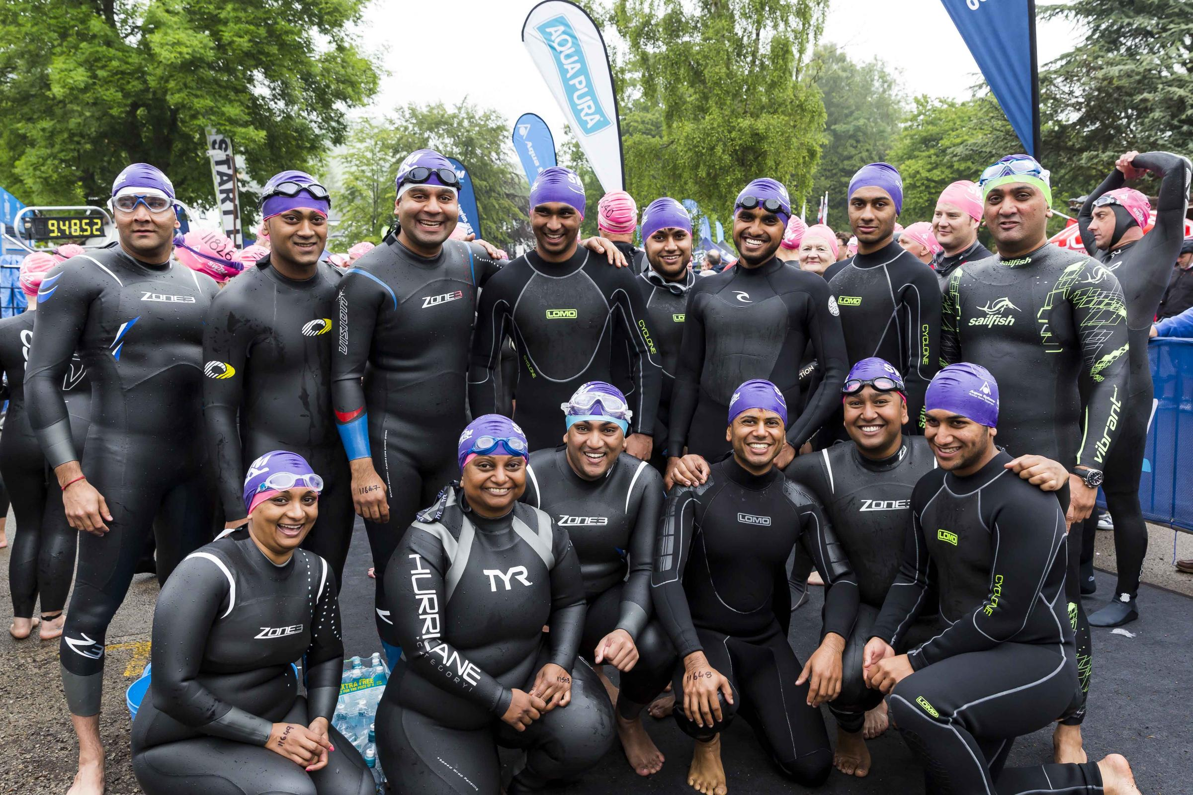 Members raised thousands for St Luke's Hospice taking part in the Great North Swim in Lake Windermere earlier this year
