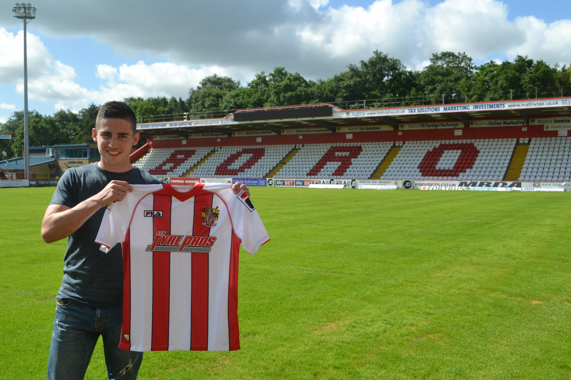 Tom Pett following his dream move into the Football League. Picture: Stevenage FC