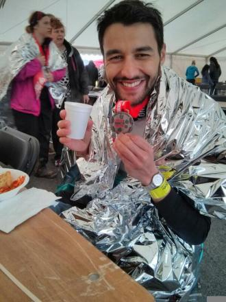 Last month he completed the 'London 2 Brighton' ultra marathon, but is yet to finish the Grand Union Challenge, the Isle of Wight and Thames Path Challenges. Picture: @liannedemello