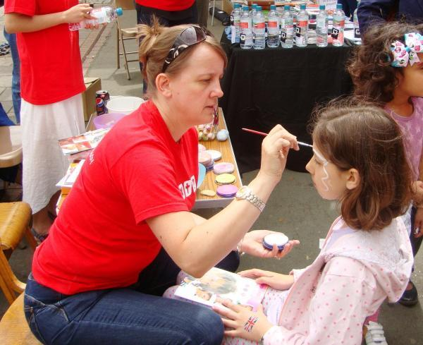 Harrow Times: The face painting stall was popular throughout the festival