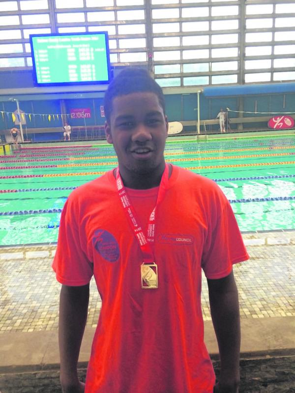 Leon Berchie won gold at the London Youth Games