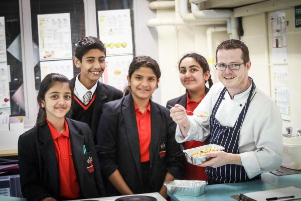 Pupils battle it out in the kitchen for school master chef completion
