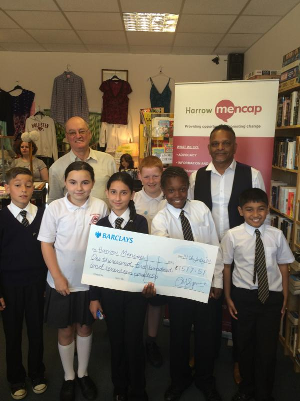 Pupils present charity with fundraising cheque
