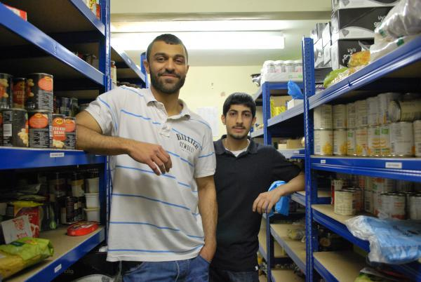 Volunteers at Sufra NW London's Food Bank
