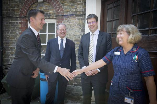 Secretary of State for Health visits hospitals serving Harrow
