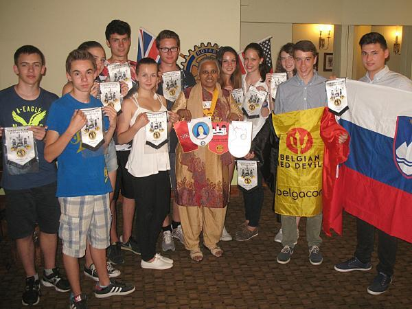 Students from around the world visit rotary club