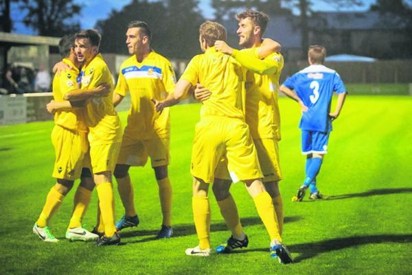 The Stones were held by Bishop's Stortford on Tuesday: Steve Foster/Wealdstone FC