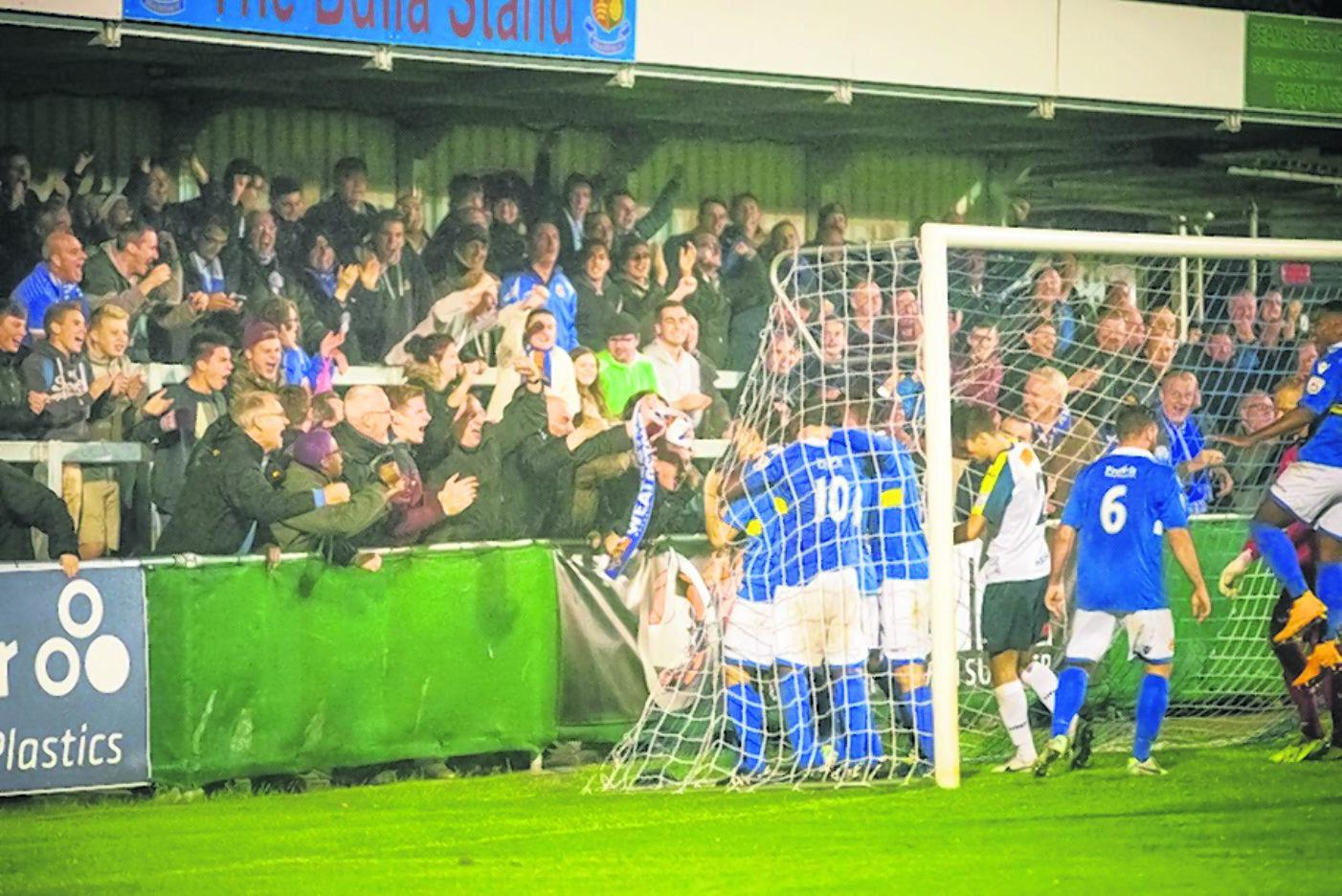 The Stones were more than a match for Havant & Waterlooville: Steve Foster/Wealdstone FC
