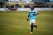 Nathan Mavila looks to get the ball under control against Staines Town. Picture: Steve Foster/Wealdstone FC