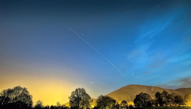 Harrow Times: BEAUTIFUL: Dave Grubb photographed the International Space Station passing over the Malvern Hills.