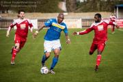 Jefferson Louis (centre) leads the charge for Wealdstone. Picture: Steve Foster/Wealdstone FC