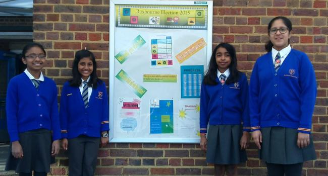 Roxbourne School's four party leaders