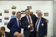 Captain Aaron Nicholas, Player of the Year Andrew Alexander and life president David Hiles